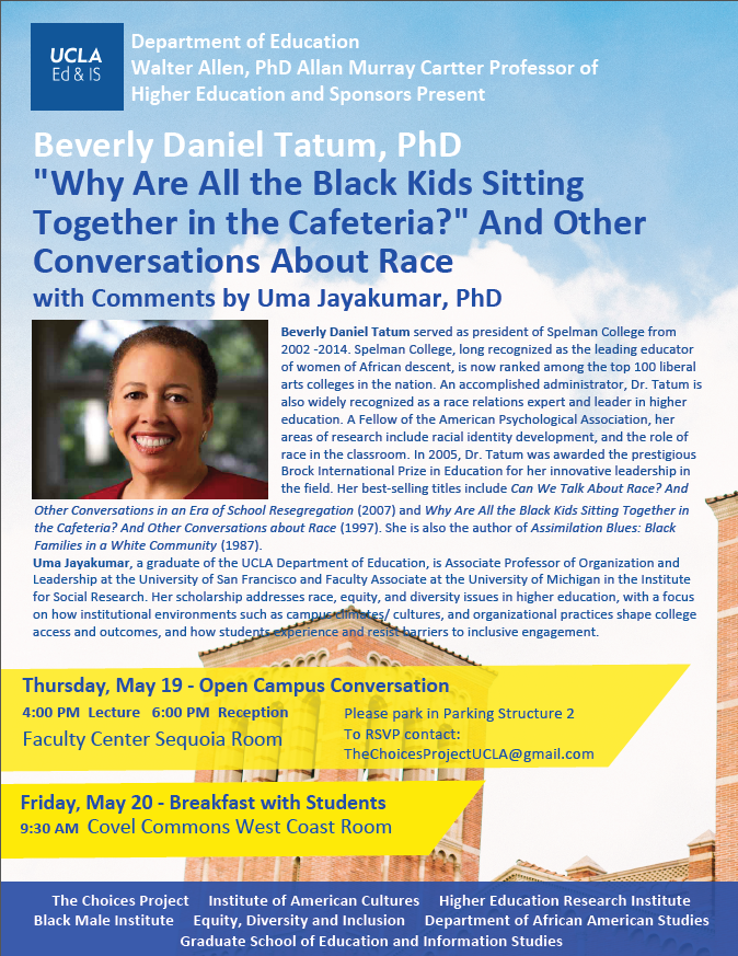a critique of why are all the black kids sitting together in the cafeteria by beverly daniel tatum It's not just the black kids sitting together children have about racebeverly daniel tatum is the black kids sitting together in the cafeteria.