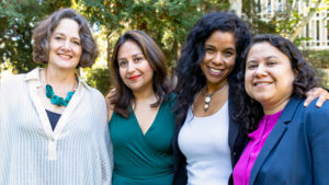 Maite Zubiaurre, Ananya Roy, Gaye Theresa Johnson, Leisy Abrego (left to right)